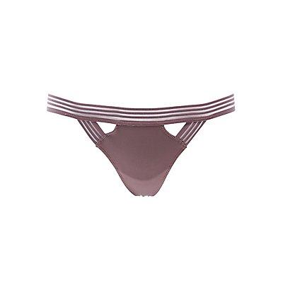 Mesh-Trim Thong Panties