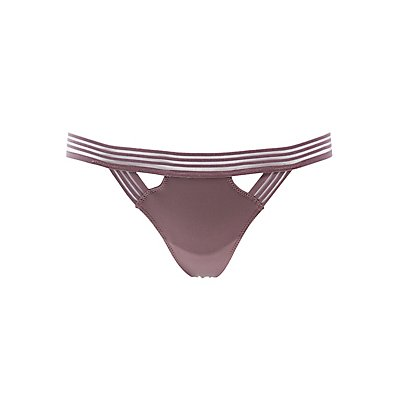 Mesh-Trim Thong Panties