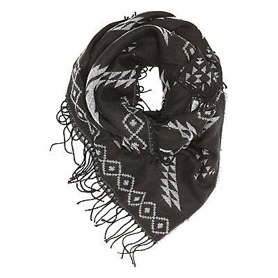 Aztec Fringed Blanket Scarf