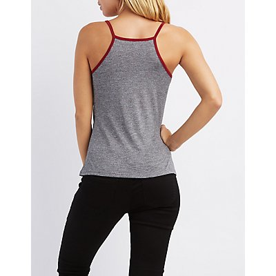 Graphic Ringer Tank Top