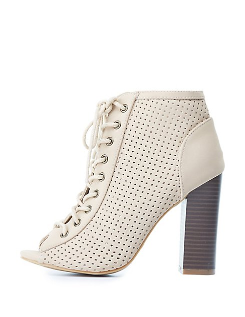With Mastercard lace-up perforated boots Top Quality Cheap Price Affordable Sale Online Buy Cheap Prices bdZnc