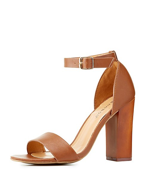 1534648d036 Bamboo Two Piece Chunky Heel Sandals
