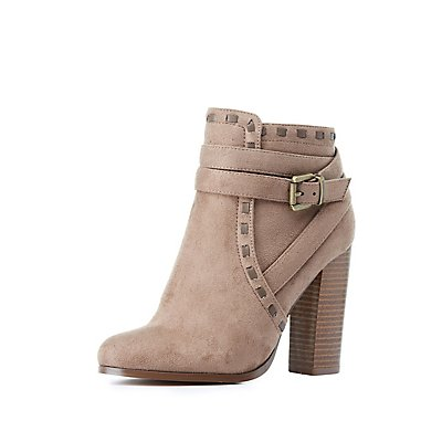 Wrapped & Buckled Ankle Booties