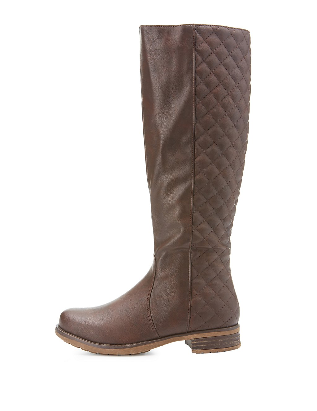 Quilted Knee-High Riding Boots   Charlotte Russe : quilted brown boots - Adamdwight.com