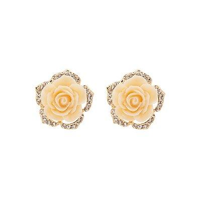 Oversize Flower Stud Earrings