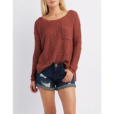 Drop Shoulder Pocket Sweater
