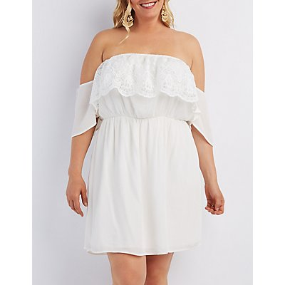 Plus Size Off-the-Shoulder Midi Dress