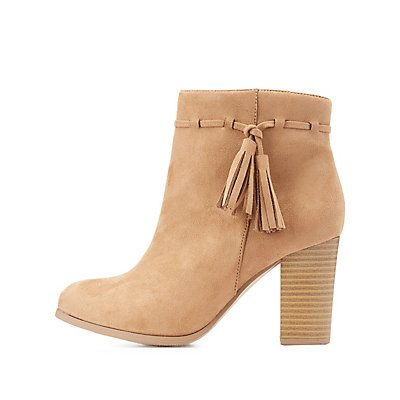 Tassel-Trim Ankle Booties