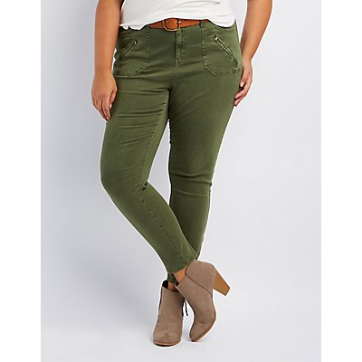 Plus Size Refuge Skinny Cargo Pants