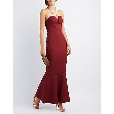 Strapless Mermaid Maxi Dress