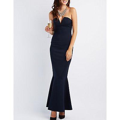 Strapless Mermaid Maxi Dress
