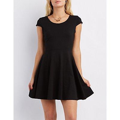 Cap Sleeve Skater Dress