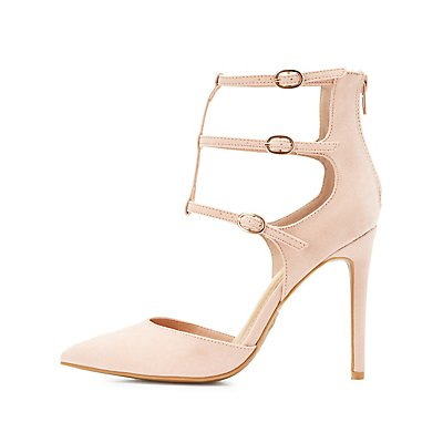 Caged Buckle D'Orsay Heels