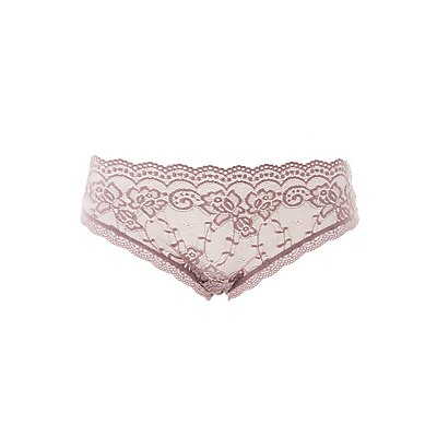 Lace Button-Up Hipster Panties