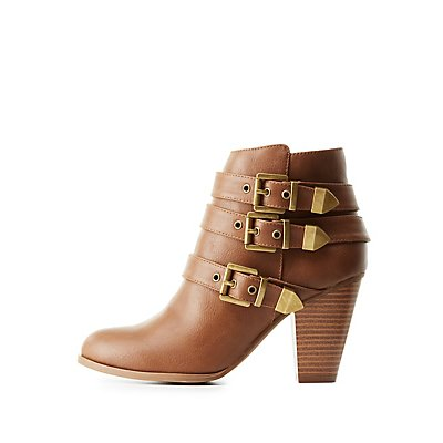 Three-Buckle Ankle Booties