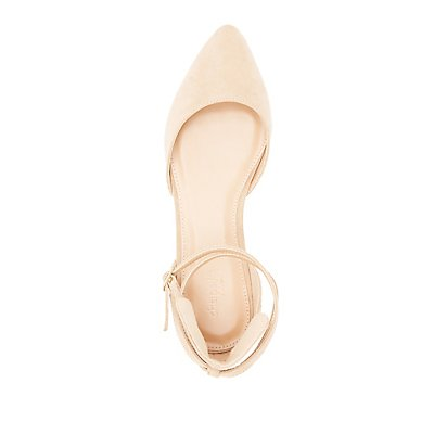 Gold-Trim Ankle Buckle Flats