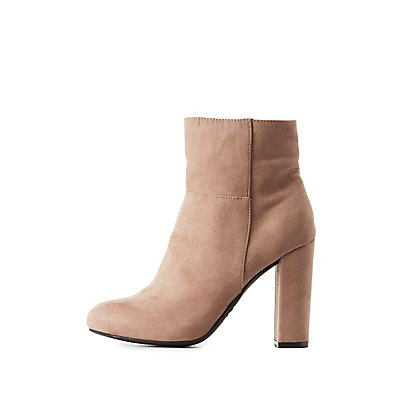 Bamboo Almond Toe Ankle Booties