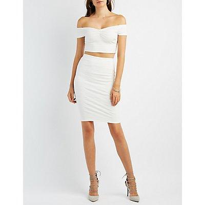 Ribbed Crop Top & Skirt Hook-Up