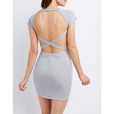Caged Open Back Bodycon Dress