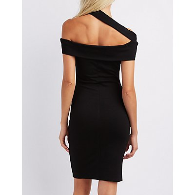 Cut-Out Off-The-Shoulder Bodycon Dress