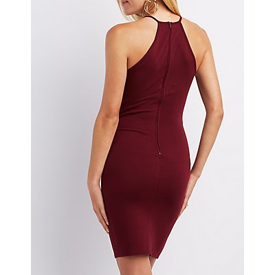 Caged Inset Bodycon Dress