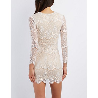 E.LS.LACE.DEEP.V.FRONT.WRAP.SKIRT.BC