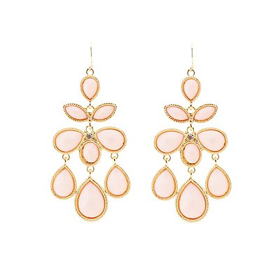 Gemstone Cluster Drop Earrings