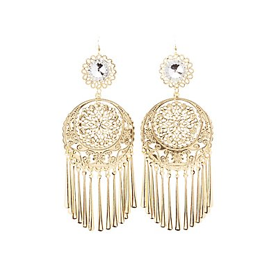 Filigree Tassel Drop Earrings