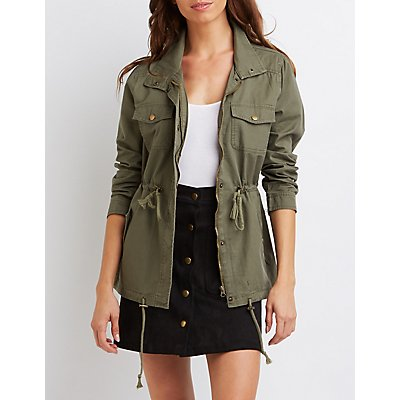 Drawstring Anorak Jacket