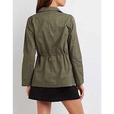 Drawstring Anorak Jacket