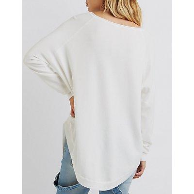 Scoop Neck Pullover Sweater