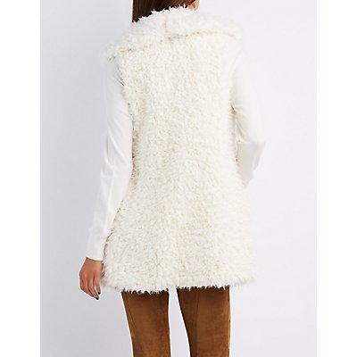 Faux Shearling Longline Vest