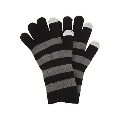 Striped Knit Gloves