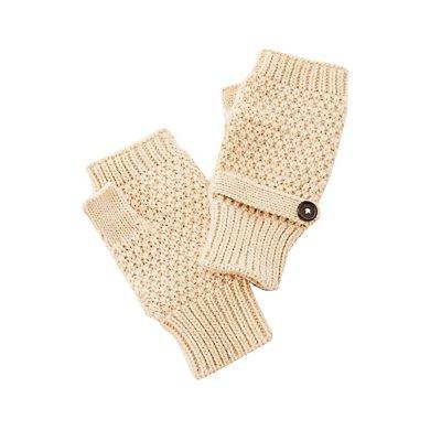 Waffle Knit Fingerless Gloves