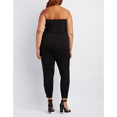 Plus Size Strapless Jumpsuit