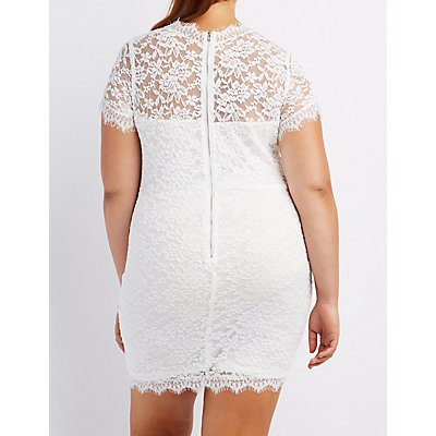 Plus Size Lace Bodycon Dress
