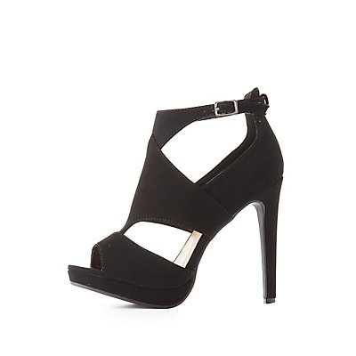 Cut-Out Platform Dress Sandals