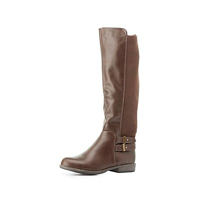 Bamboo Buckled & Gored Riding Boots