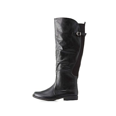 Bamboo Knee-High Riding Boots