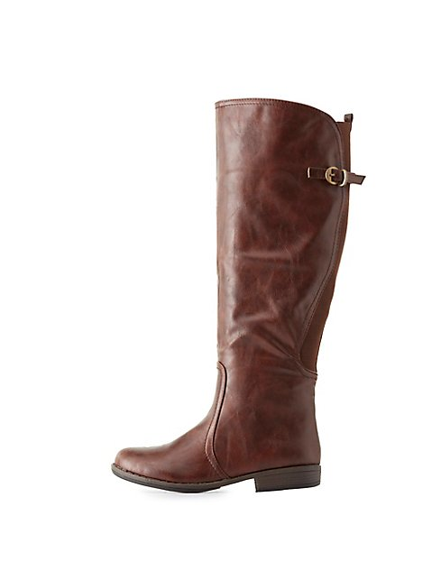 c7df010df8f Bamboo Knee-High Riding Boots ...