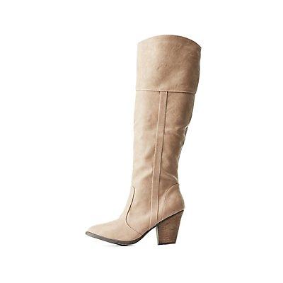 Dollhouse Chunky Heel Riding Boots