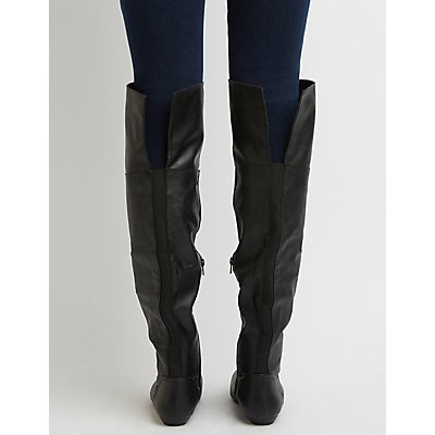 Bamboo Over-The-Knee Riding Boots