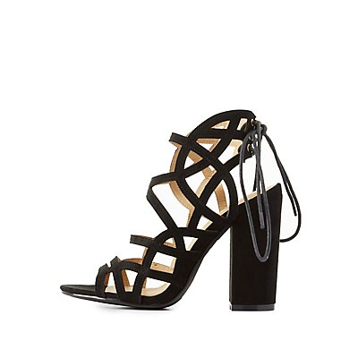 Laser Cut Caged Dress Sandals