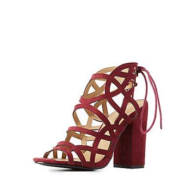 Laser Cut Caged Dress Sandals