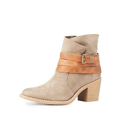 Qupid Wrapped Western Ankle Booties