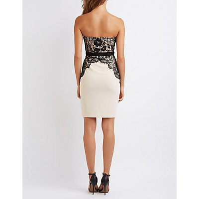Lace Bodice Bustier Dress