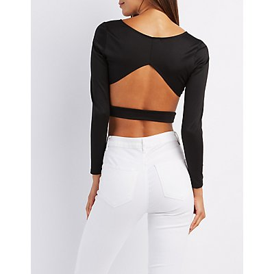 Cut-Out Back Crop Top