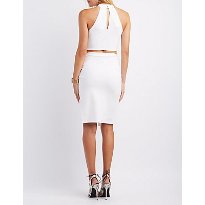 Lattice Crop Top & Wrap Skirt Hook-Up