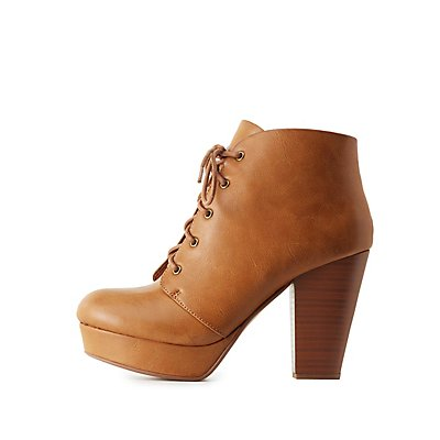 Platform Lace-Up Booties