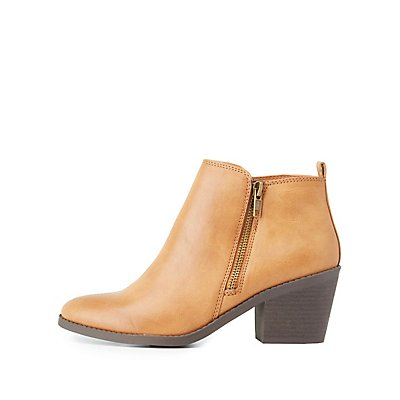 Almond Toe Chelsea Booties